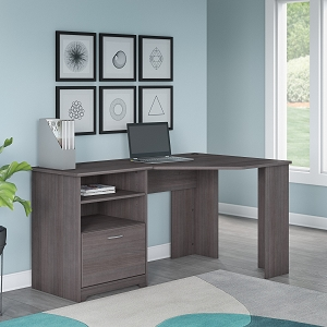 Bush Furniture Cabot 60W Corner Desk with Storage