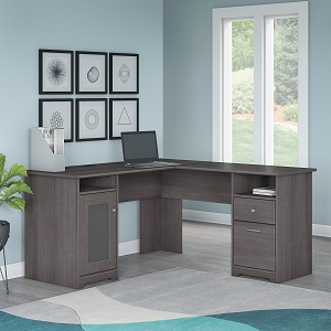 Bush Furniture Cabot 60W L Shaped Computer Desk