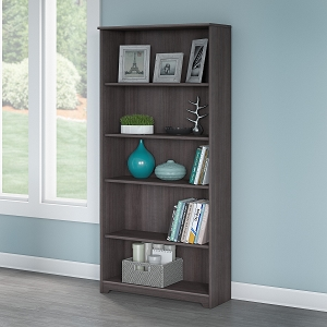 Bush Furniture Cabot Tall 5 Shelf Bookcase