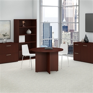 Bush Business Furniture 42w Round Conference Table With Wood