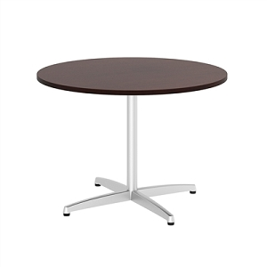 Bush Business Furniture 42W Round Conference Table with Metal X Base #99TBX42RCSSVK
