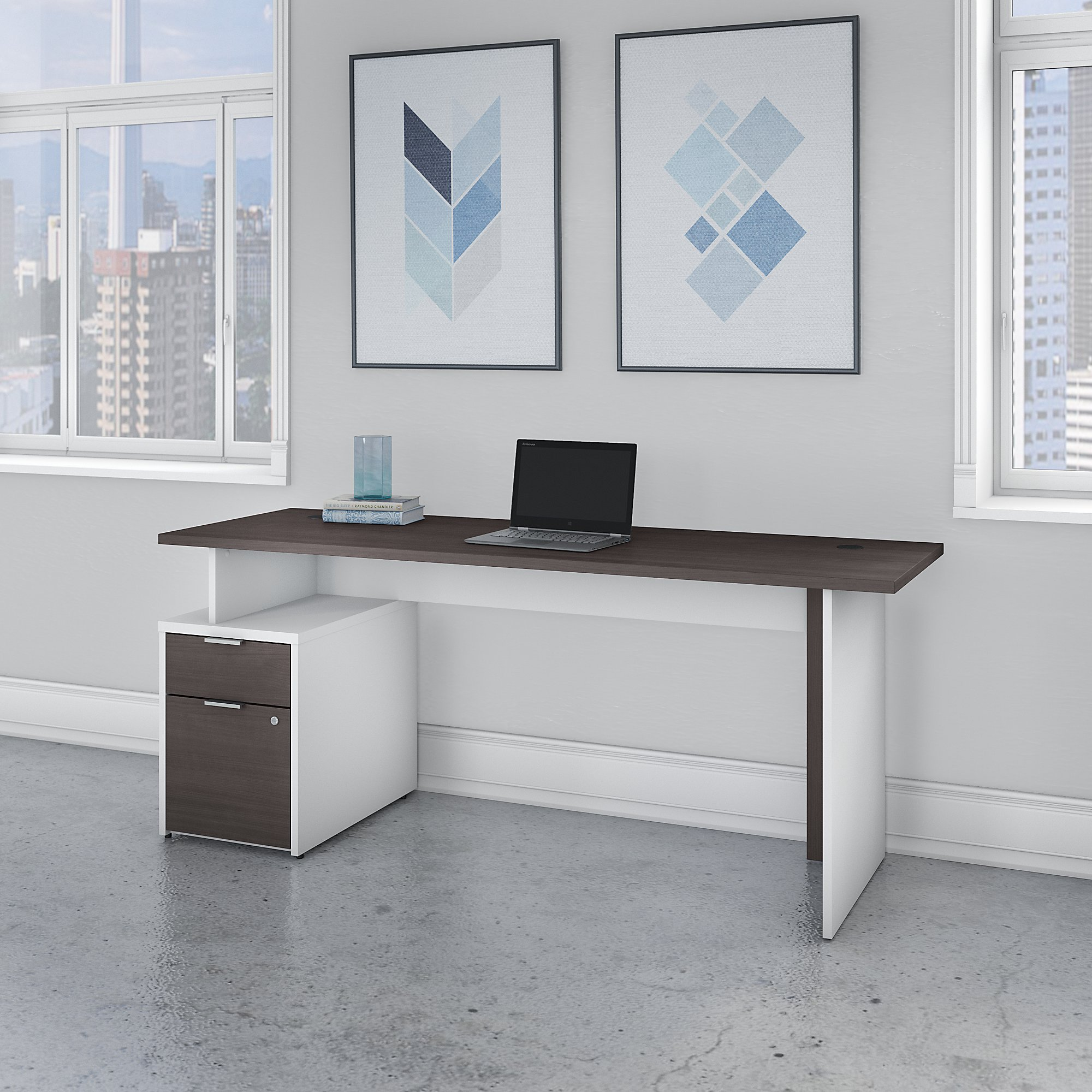 Bush Business Furniture Jamestown 72W Desk with 2 Drawers