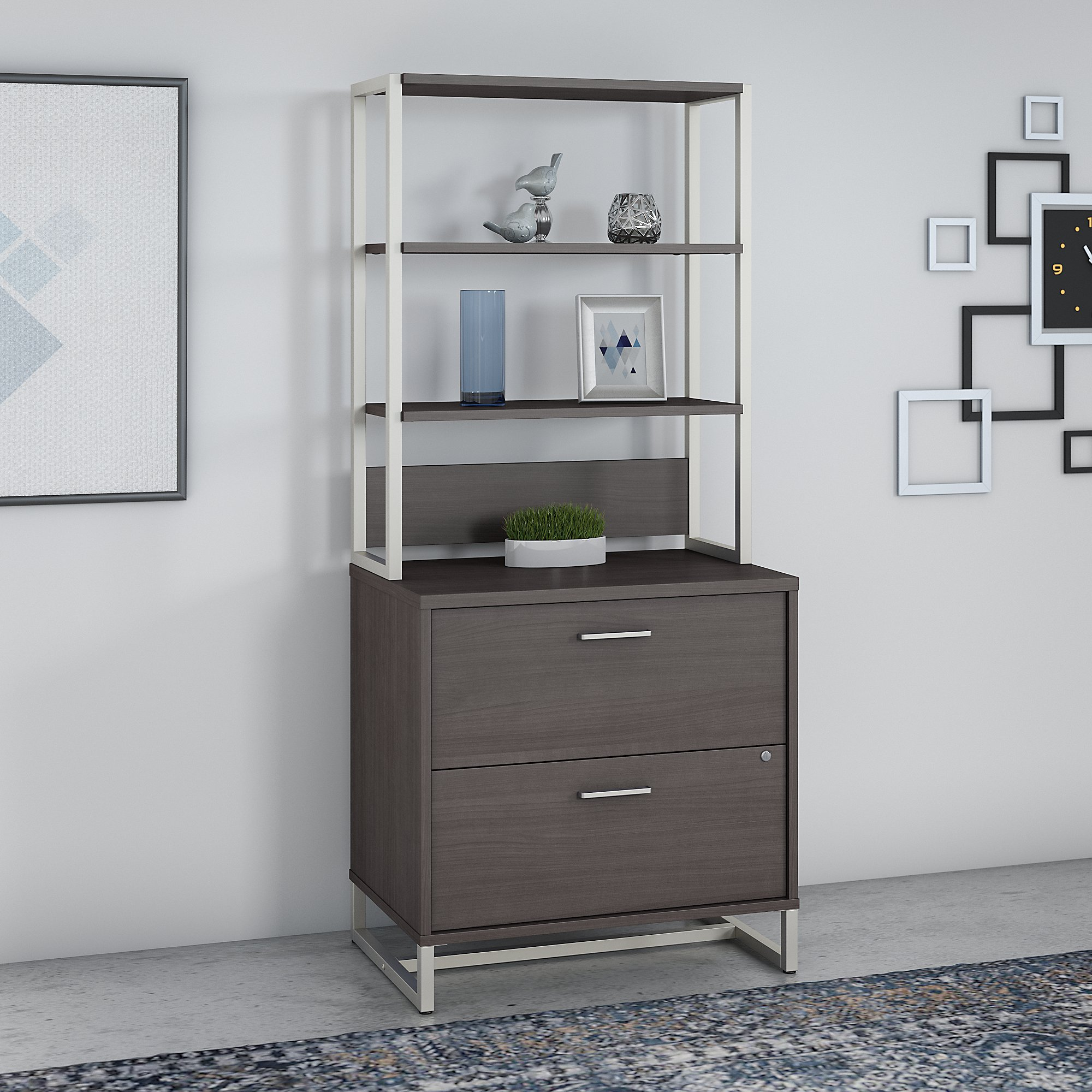 Office by kathy ireland® Method 2 Drawer Lateral File Cabinet with Hutch