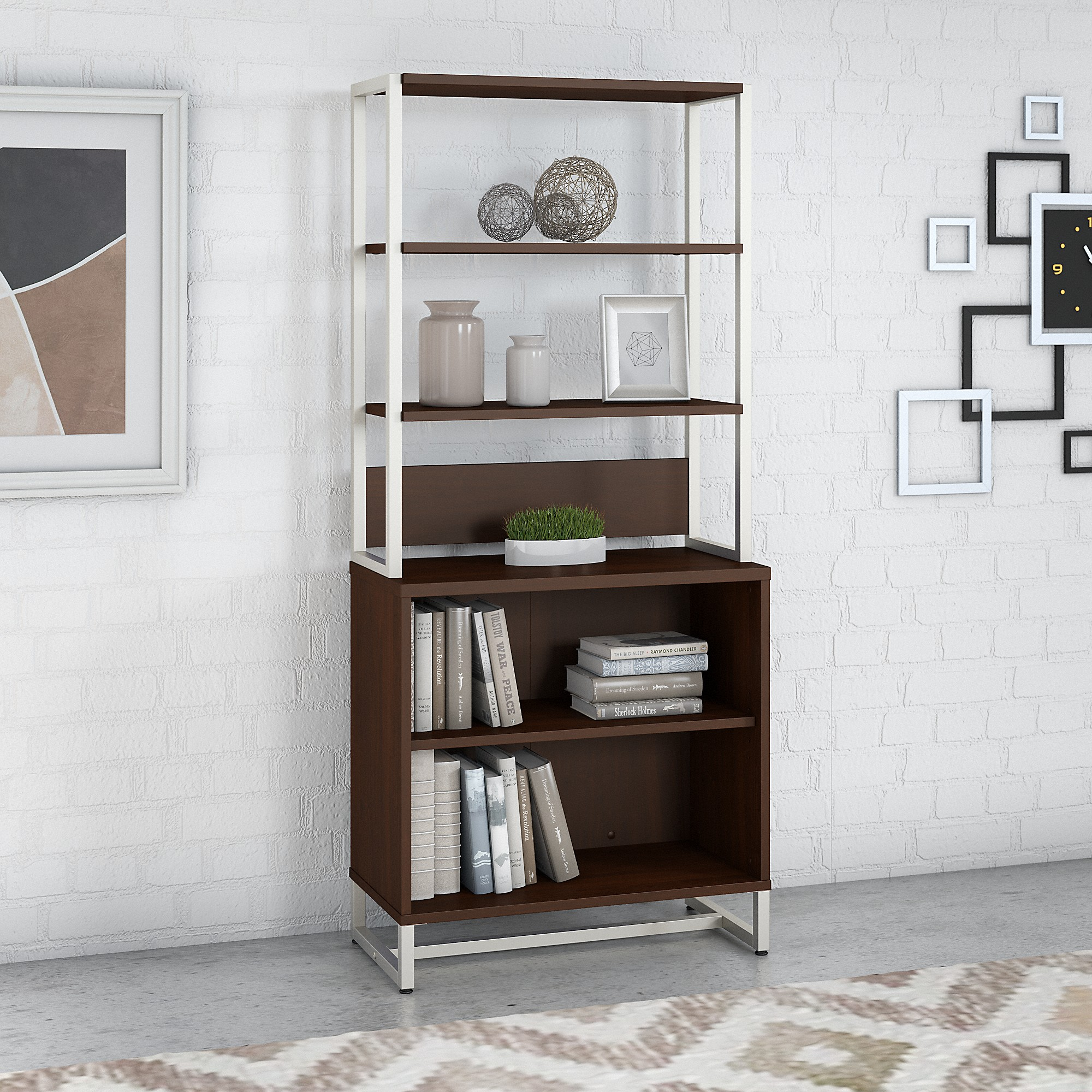Office by kathy ireland® Method Bookcase with Hutch