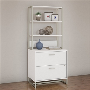 Office by kathy ireland Method Lateral File Cabinet with Hutch #MTH012WHSU