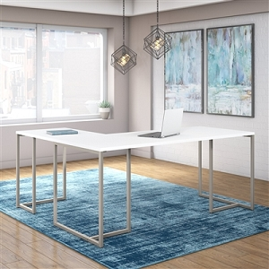 Office by kathy ireland Method 72W L Shaped Desk with 30W Return #MTH017WH