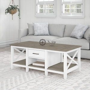 Bush Furniture Key West Coffee Table with Storage