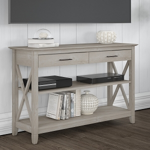 Bush Furniture Key West Console Table with Drawers and Shelves