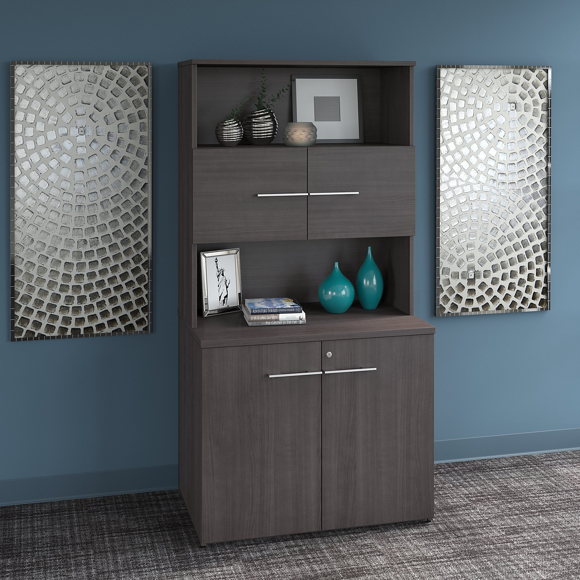Bush Business Furniture Office 500 36W Tall Storage Cabinet with Doors and Shelves