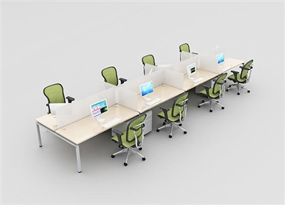 Clear Design Blade 8 Person Workstation - 24