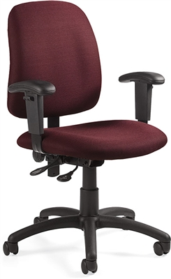 Global Goal Low Back Operator Chair With Arms #2237-5