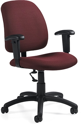 Global Goal Low Back Task Chair With Arms #2237-6