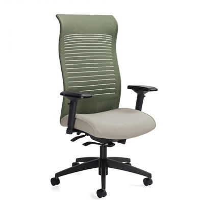 Global Loover Extended High Back Weight Sensing Synchro-Tilter Chair #2660-8
