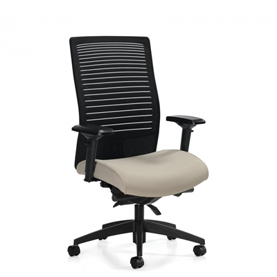 Global Loover High Back Synchro-Tilter Chair w/Back Angle Adjustment #2661-0