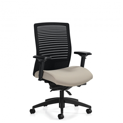 Global Loover Medium Back Synchro-Tilter Chair w/Back Angle Adjustment #2662-0