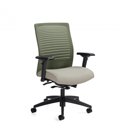 Global Loover Medium Back Weight Sensing Synchro-Tilter Chair #2662-8