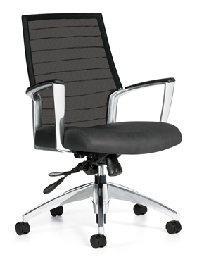 Global Accord Mesh Back Medium Back Tilter Chair #2677-4