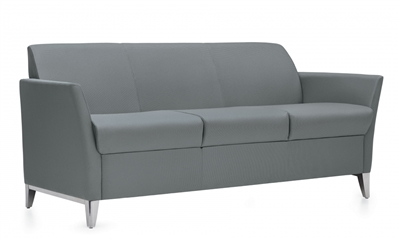 Global Camino Three Seat Sofa w/Aluminum Legs #5483