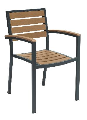 KFI Studios Eveleen Outdoor With Arms Chair #5601