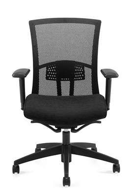 Global Vion Mesh High Back Weight Sensing Synchro-Tilter Chair #6321-8