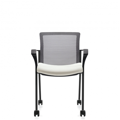 Global Vion Mesh Back Guest Chair w/Casters #6325C