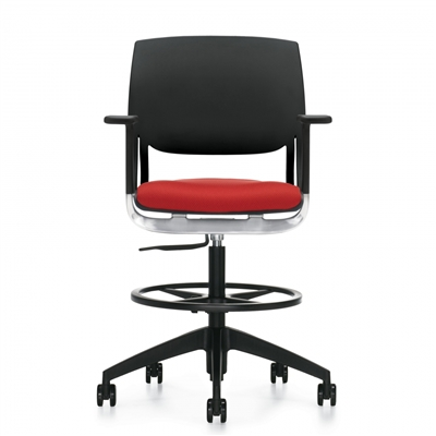 Global Novello Task Stool w/Arms #6410