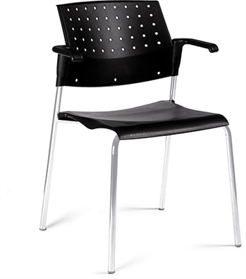 Global Sonic Stack Chair With Arms #6513
