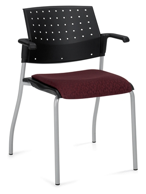 Global Sonic Stack Chair With Arms #6514