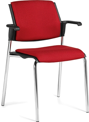 Global Sonic Stack Chair With Arms #6515