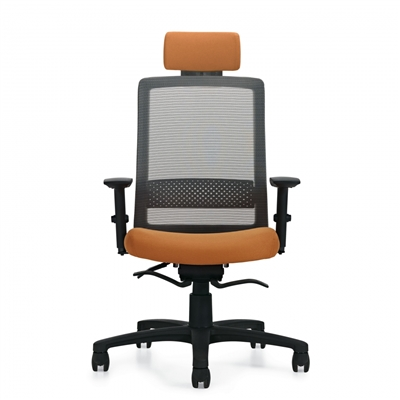 Global Spritz Weight Sensing Synchro-Tilter Chair w/Adjustable Headrest and Lumbar Support #6760-8