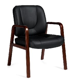 OTG Luxhide Guest Chair With Arms #OTG11770B