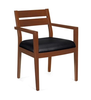 OTG Wood Guest Chair With Arms #OTG11820B-TH