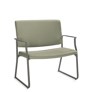 Global Care Frolick Sled Base Bariatric Armchair With Concealed Back #GC3023