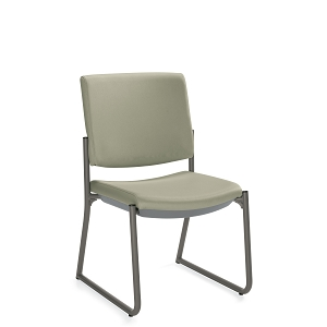Global Care Frolick Sled Base Armless Chair With Single Piece Back #GC3035
