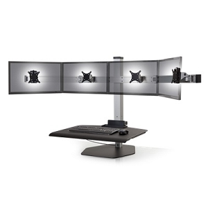 Innovative Winston Sit-Stand Workstation Quad Monitor Mount #WNST-4