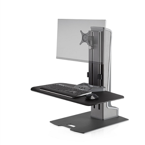 Innovative Winston-E Sit-Stand Workstation Single Monitor Mount With Compact Work Surface #WNSTE-1-CW-270