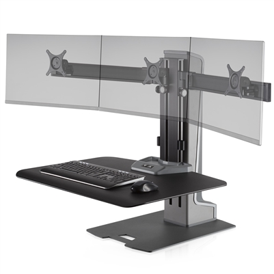 Innovative Winston-E Sit-Stand Workstation Triple Monitor Mount #WNSTE-3-270