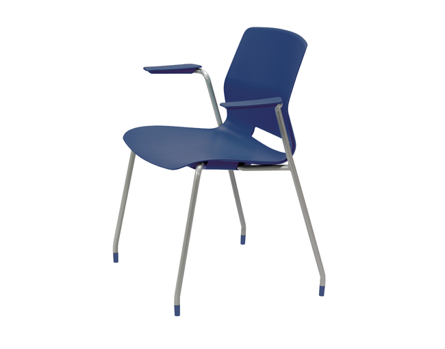 KFI Studios Imme Stack Chair w/Arms and Poly Seat and Back #2701