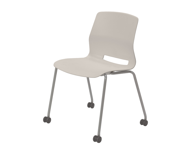 KFI Studios Imme Armless Stack Chair w/Poly Seat and Back and Casters  #CS2700
