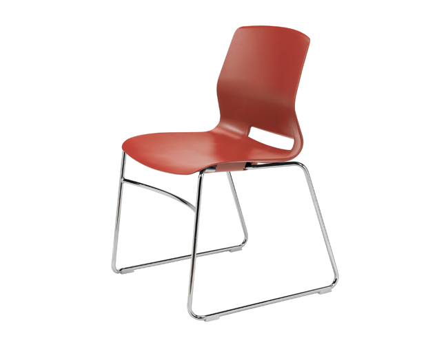 KFI Studios Imme Armless Sled Base Stack Chair w/Poly Seat and Back #SL2700