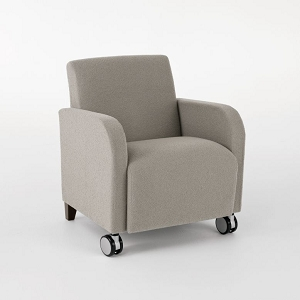 Lesro Siena Series Guest Chair With Casters #SN1401C3