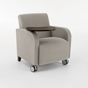 Lesro Siena Series Swivel Table Guest Chair With Casters  #SN1431C3