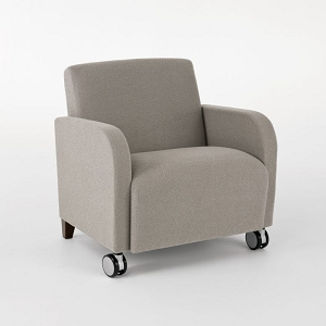 Lesro Siena Series Oversize Guest Chair With Casters #SN1601C3
