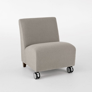 Lesro Siena Series Oversize Armless Guest Chair With Casters #SN1602C3