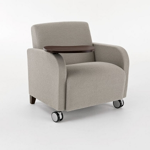 Lesro Siena Series Swivel Table Oversize Guest Chair With Casters #SN1631C3
