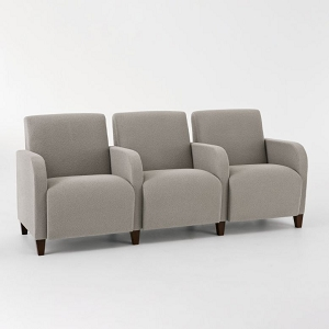 Lesro Siena Series 3 Seats With Center Arms #SN3403G3