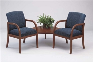 Lesro Weston 2 Chairs w/ Connecting Center Table #WS2321G5