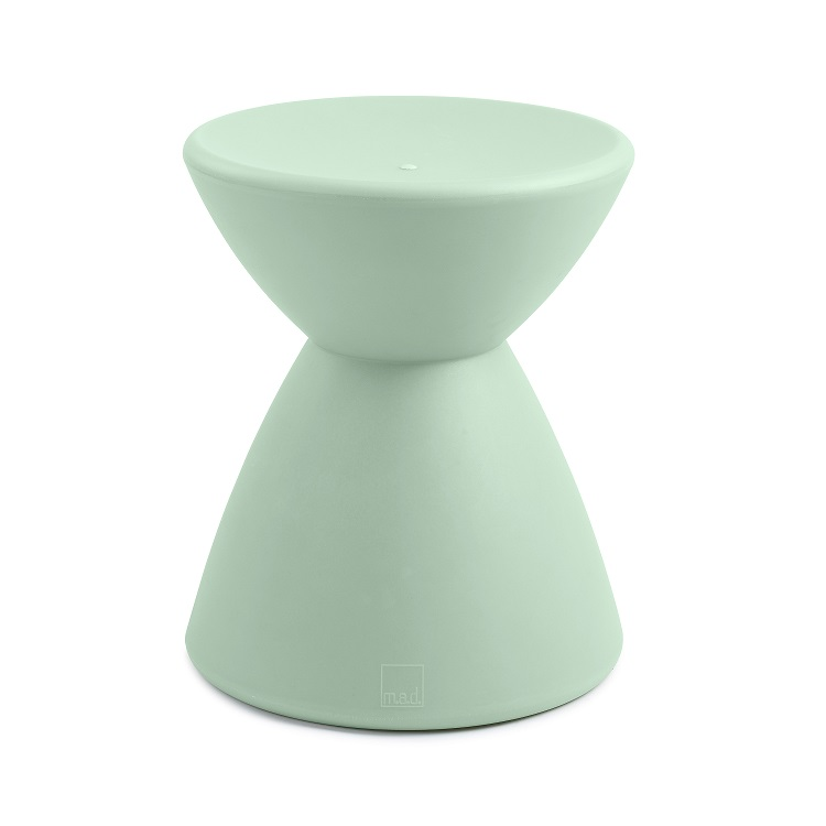 M.A.D. Furniture Roto Stool Side Table - Color: Sage Green