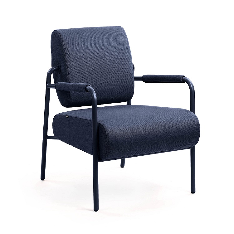 M.A.D. Furniture Axle Lounge Chair - Black Base with Dark Blue Seat