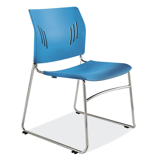 Office Source Stacked Seating Armless Side Chair 3080